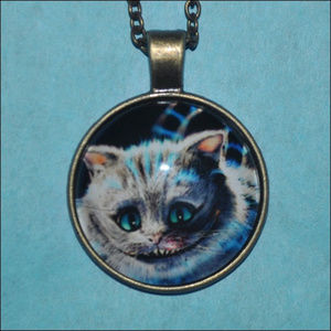 Jewelry - Cheshire Cat Dome Necklace